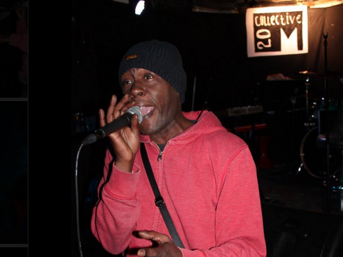 Poet Chris Jam performing at Kraak, March 2014. Pic: M20 Collective