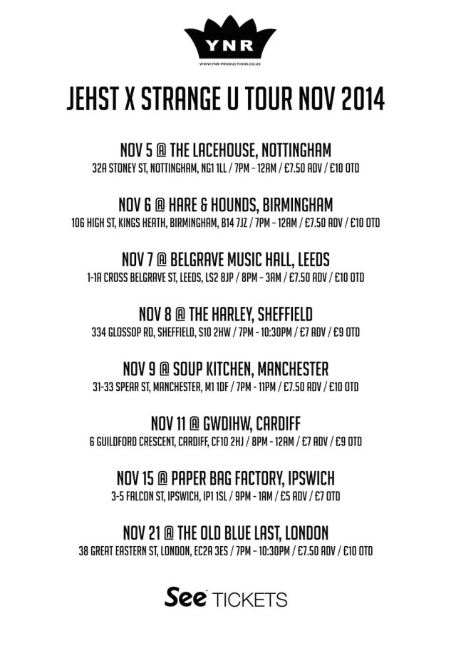 strange u tour