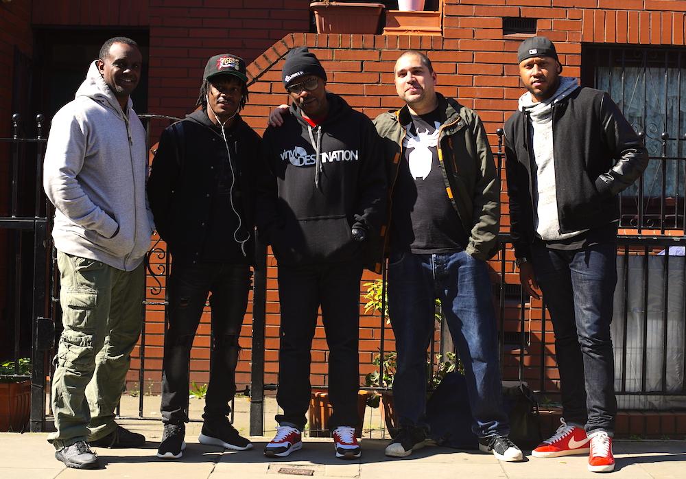 Vinyl Destination crew outside Beatin' Rhythm