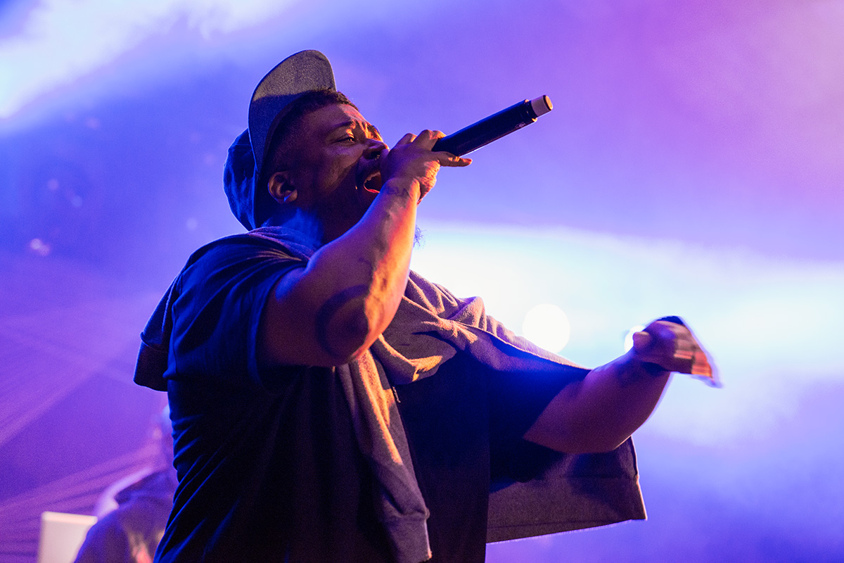 De La Soul performing on the Orchard stage at Nozstock 2015