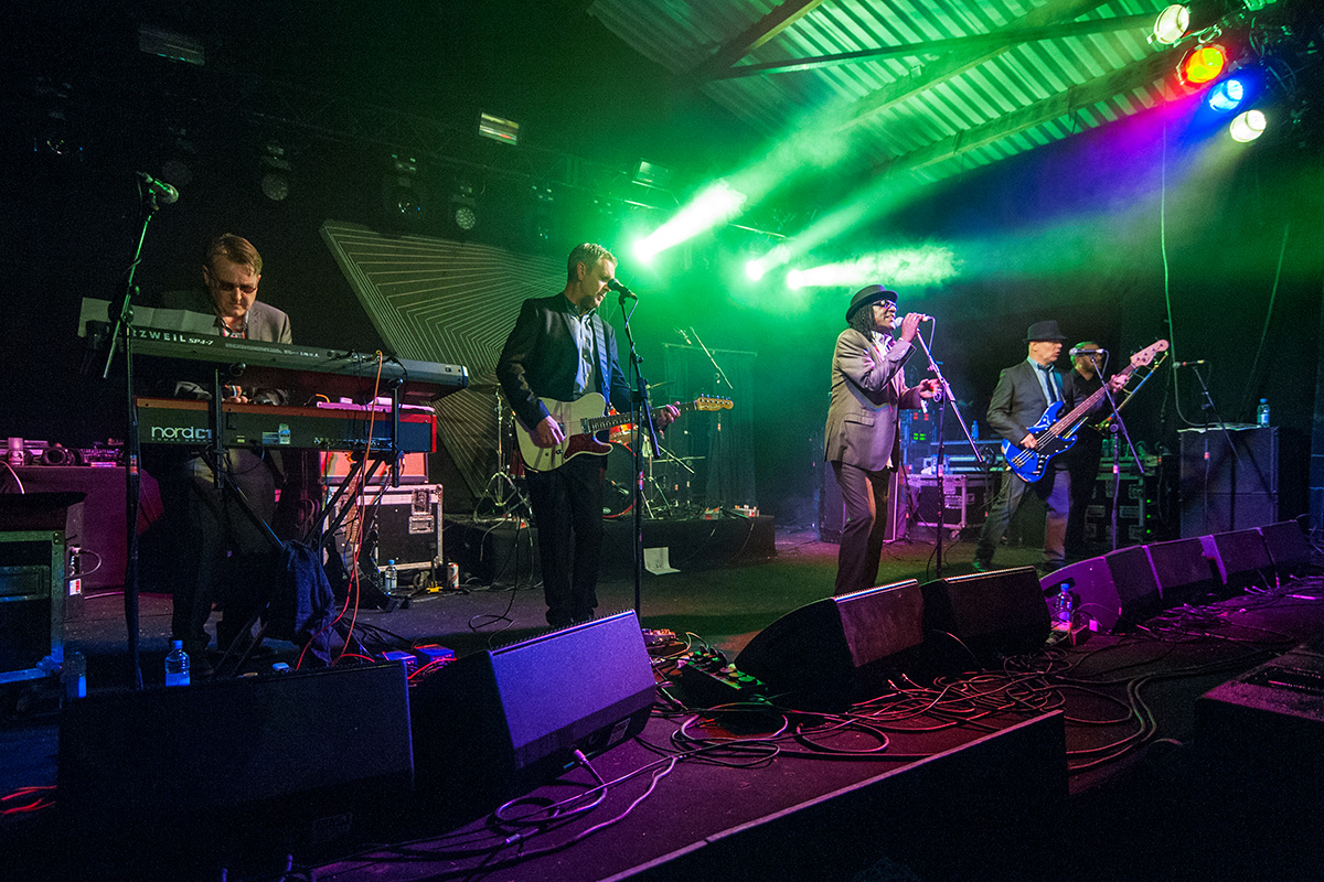 Neville Staple Band performing on the Orchard stage at Nozstock 2015