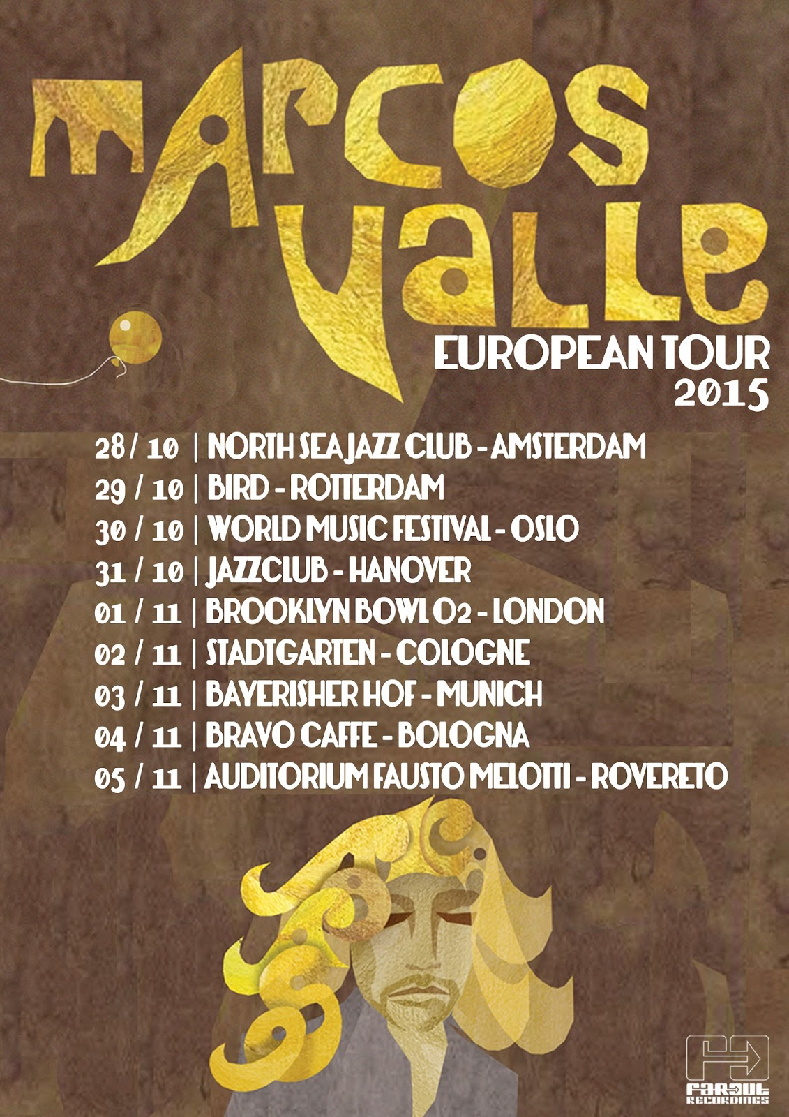 Marcos Valle EU Tour Poster